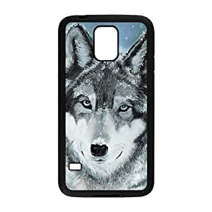 VNCASE Wolf Howling Phone Case For Samsung Galaxy S5 i9600 [Pattern-2]