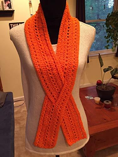 Handmade Crochet Leukemia, CRPS, RSD Awareness Ribbon Scarf