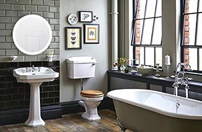 "Round 27"" LED Lighted Wall Mount Vanity Bathroom Mirror ""Sol"" with Defogger (Fog Free) 27"" Diameter"
