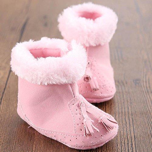 Babyschuhe Longra Baby Mädchen Schneestiefel Baumwolle weiche Sohle weiche Krippe Schuhe Kleinkind Stiefel (0~ 18 Monate)