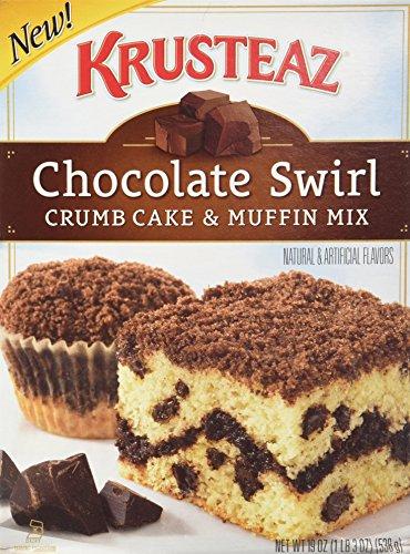 Crumb Cake Muffins (Krusteaz, Chocolate Swirl, Crumb Cake & Muffin Mix, 19oz Box (Pack of 3))