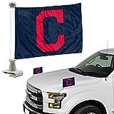 ProMark Cleveland Indians 2-Pack Ambassador Style Auto Flag Car Banner Set Baseball