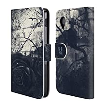 Head Case Designs Dark Rose Floral Drips Leather Book Wallet Case Cover For LG G4 / H815 / H810