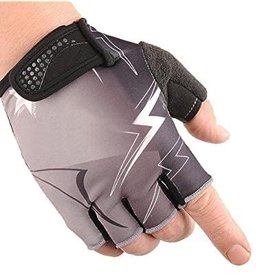 GZXCPC Semi doigt équitation gants Lightning Ice Wire anti-dérapage amortissement extérieur fitness sport équipement main-mince gants