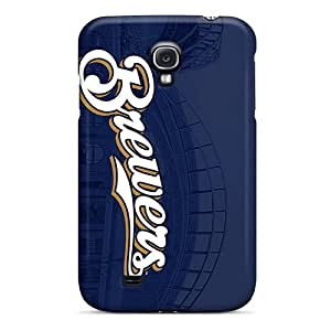 New Tpu Hard Case Premium Galaxy S4 Skin Case Cover(milwaukee Brewers)