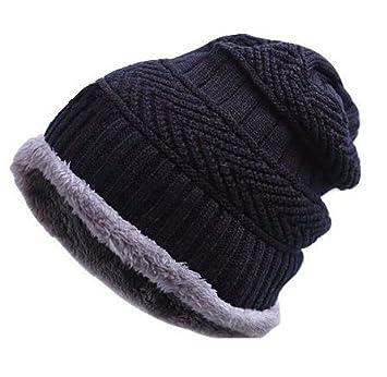 cae12ed51ab Zacharias Unisex Woolen Cap Black men-furr-beanie-black-men  Amazon.in   Sports