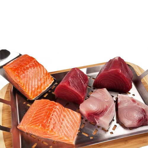 Wild Caught, Fresh Fish Sampler, Total 3 lbs of Ahi Tuna, Swordfish & Salmon Fillets