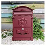 ALXLX Wall Mounted Or Freestanding Letterboxes Elegant Lockable Secure Letterbox Posts Outdoor Mail Post Box for Garden Apartment House (Color : E, Size : 26X8.3X41CM)
