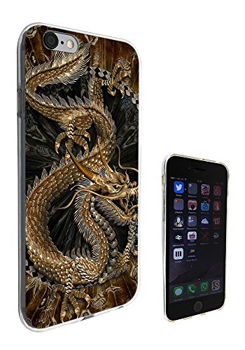 002693 - Brown Whimsical Chinese Dragon Design iphone 6 Plus / 6S plus 5.5'' Fashion Trend Silikon Hülle Schutzhülle Schutzcase Gel Rubber Silicone Hülle