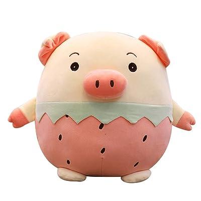 LTLZB Almohada de Juguete Almohada de Animal de Peluche de Cerdo súper Suave Adecuado para Todas Las Edades Juguete de Peluche Regalo de cumpleaños decoración de Oficina de Dormitorio,45cm: Hogar