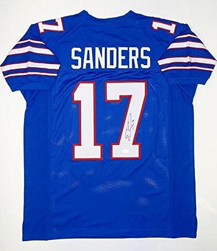 on sale a7db4 9ef46 Emmanuel Sanders Autographed Blue College Style Jersey- JSA ...