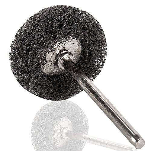 Rocaris 1'' (25mm) Black 300 Grit Abrasive Buffing Polishing Wheels Burr For Proxxon Dremel Rotary Tools-1/8''(3mm) Shank Pack of 50Pcs by Rocaris (Image #4)