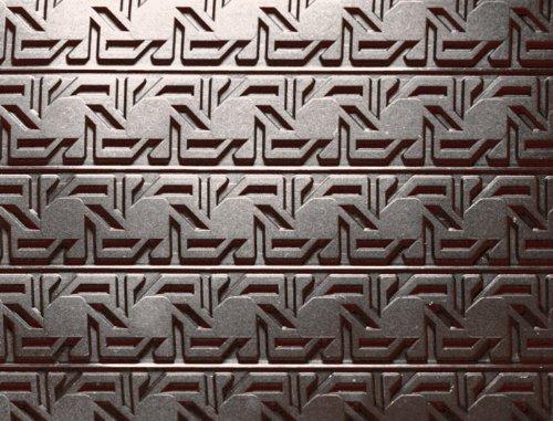 3-D Silicone Non Stick Baking Mat (Relief Mat), 15'' x 22'' Venetian Cane Design