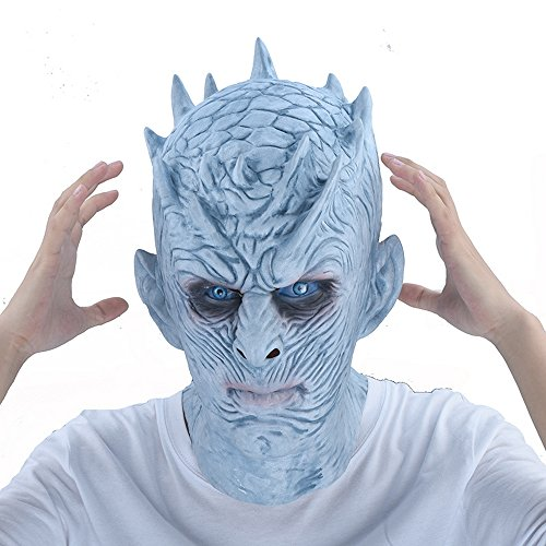 Guy Movie Costume Ideas (Men halloween mask, 2017 creepy halloween face mask for adult- Game of Thrones mask |Halloween Movie Party White Walkers Mask& Night King mask latex mask costume cosplay, mens halloween costume)