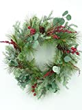 None Christmas Brighton Pine 24'' Wreath or 72'' Garland (24'' Wreath)