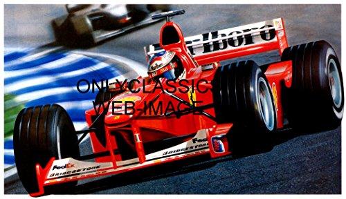 F1 Grand Prix Card - OnlyClassics MICHAEL SCHUMACHER FERRARI F1 2000 FORMULA ONE GRAND PRIX AUTO RACING 11X17 POSTER