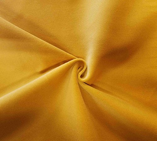 Quality Yellow 100% Cotton Velvet Velour Fabric for Upholstery/Drapery/Crafts/Costumes Heavy 16oz Weight Thick Curtain Material Sold by The Yard at 54 inch Wide