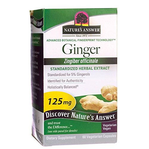 Nature's Answer Ginger 125 mg 60 Veg Caps - Ginger Root Tincture