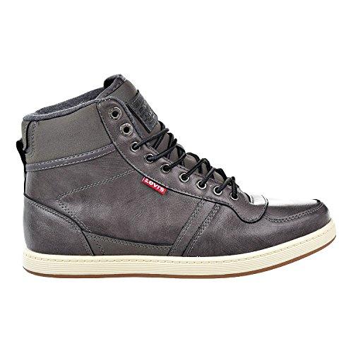 Levis Heren Stanton Mid Burnish Sneaker Charcoal