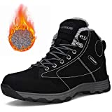 ff764aba0d7 602hei46 Mens Waterproof Hiking Boots Lightweight Outdoor Non-Slip Rubber  Fur Lining Sole Winter Snow