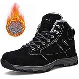 ff764aba0d7 602hei46 Mens Waterproof Hiking Boots Lightweight Outdoor Non-Slip Rubber  Fur Lining Sole Winter Snow
