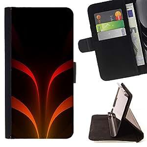 For Apple (5.5 inches!!!) iPhone 6+ Plus / 6S+ Plus Case , Naranja Stripes Misterioso Oscuro- la tarjeta de Crédito Slots PU Funda de cuero Monedero caso cubierta de piel