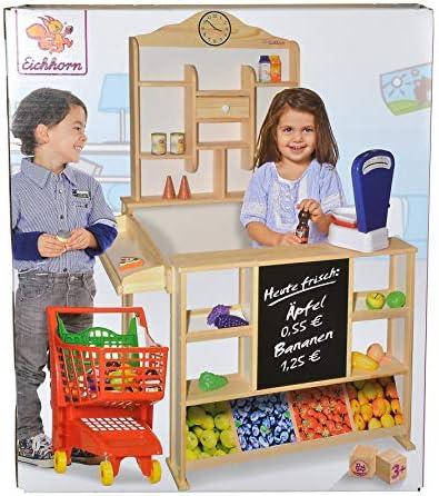 Eichhorn 100002553 - Kaufladen mit Theke und Ablage, 73x78x112cm, Lindenholz, teilmontiert