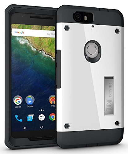 Nexus 6P Case - TUDIA Ultra Tough OMNIX [Heavy Duty] Hybrid Full-Body Protective Case with Front Cover and Built-in Screen Protector/Impact Resistant Bumpers Cover for Google Nexus 6P (White)