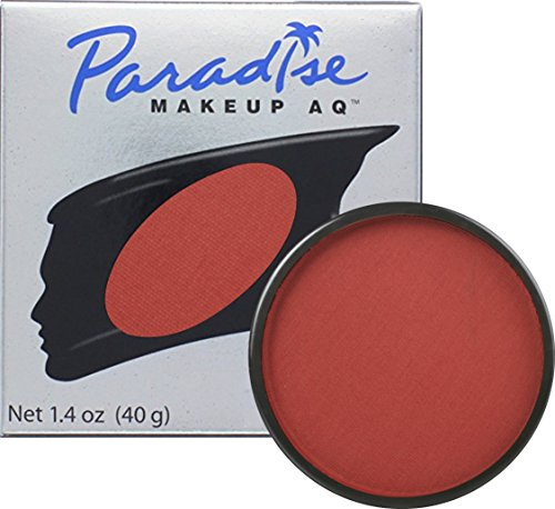 Red Face Paint Costume - Mehron Makeup Paradise AQ Face & Body Paint, RED: Basic Series – 40gm