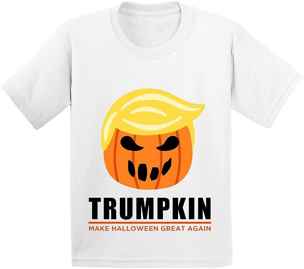 Fannoo Funny Happy Halloween Cartoon Trumpkin Graphic T Shirt for Unisex Toddler//Kids//Boys//Girls Age 2-12