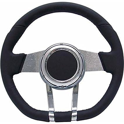 Black Leather Cruiser FX Steering Wheel Helix HEXSTW6B Steering Wheel