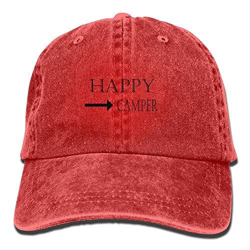 Happy Camper Cowboy Hat Adjustable Baseball Cap Sunhatcap Peaked Cap