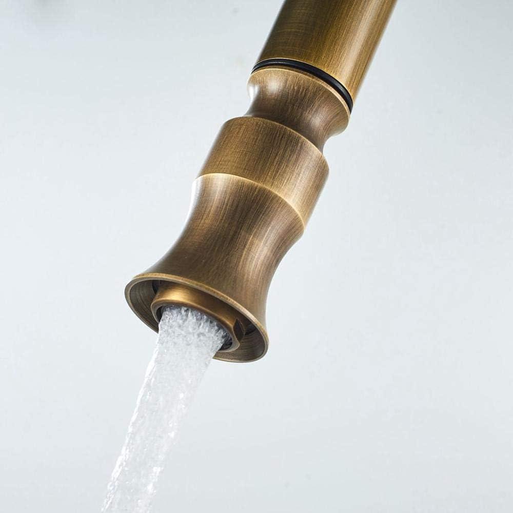 Fregadero de cocina Tapstapsantique Grifos de cocina de bronce Extraíble Fregadero caliente y giratorio Grifo de agua de 360 grados Mezclador de agua Grifos mezcladores: Amazon.es: Bricolaje y herramientas