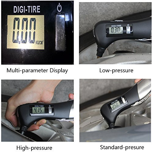 Brightt 9-in-1 Digital Tire Pressure Gauge 150PSI with Multi functional Rescue Tools of LED Flashlight, Car Hammer, Seatbelt Cutter, Screw Drivers, Scissors and Pliers for Car, All Vehicles by Brightt (Image #4)