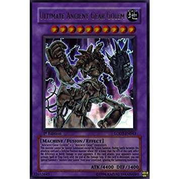 Yugioh Ultimate Ancient Gear Golem LODT-EN043 Ultimate Rare 1st Edition