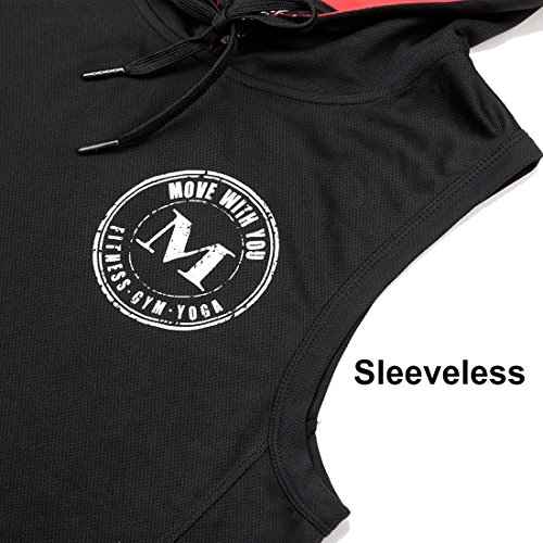 Move With You Men Boxing Fitness Sports Shirts Hoodie Sleeveless Workout Tank Top