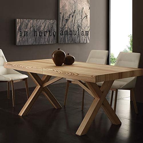 M-029 Mesa de comedor extensible de madera maciza HESTIA: Amazon ...
