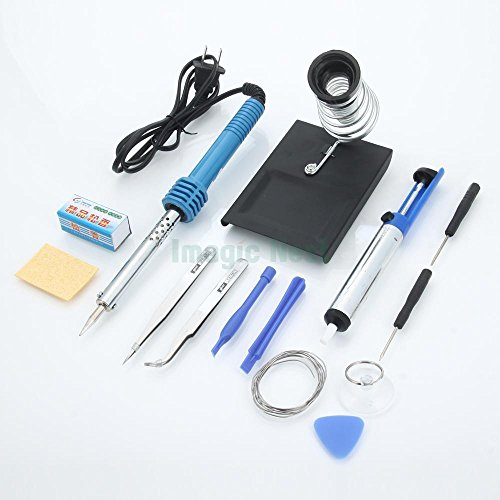 US Stock 14in1 60W 110V Electric Soldering Tools Kit Set Iron Stand (Napa Pump)