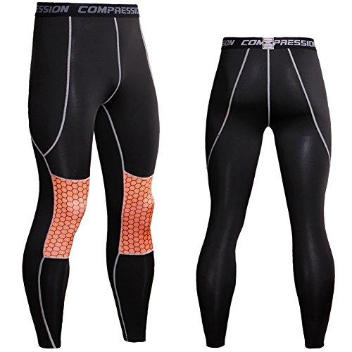 Collant Sport Leggings Yoga Fitness Gym Imprimé De Homme Joggings Cool Pour Orange Pantalon q0awSU