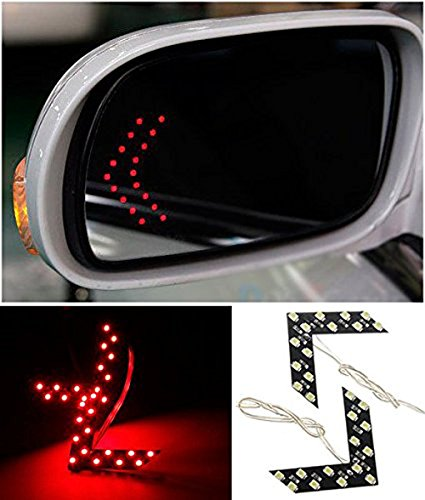 Cdycam 2 Pcs 14 SMD LED Red Arrow Panel Car Side Rear View Mirror Indicator Turn Signal Light - Red Arrow Car