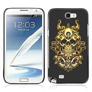 Carcasa Funda Case // V0000450 The Skull // Samsung Galaxy Note 2 N7100