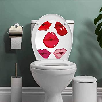 Miraculous Amazon Com Thinkingpower Kiss Stickers For Bathroom Pabps2019 Chair Design Images Pabps2019Com