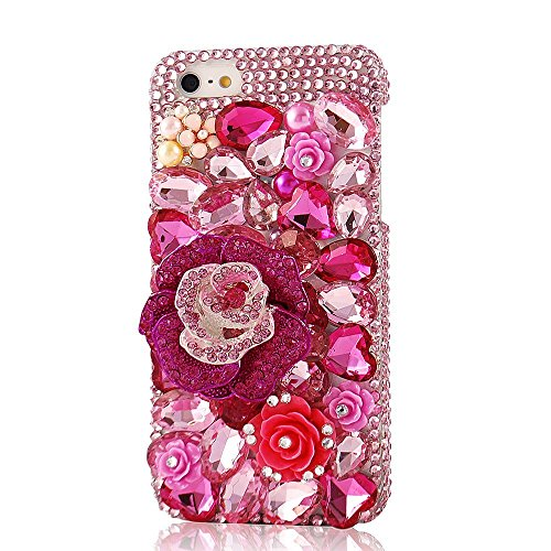 EVTECH(TM) Neue iPhone 5C Bling Glitter Diamant Schutzhülle/Transparent Hart Kunststoffe Hülle/strass Etui Schale/Plastik Handytasche/Schale case cover
