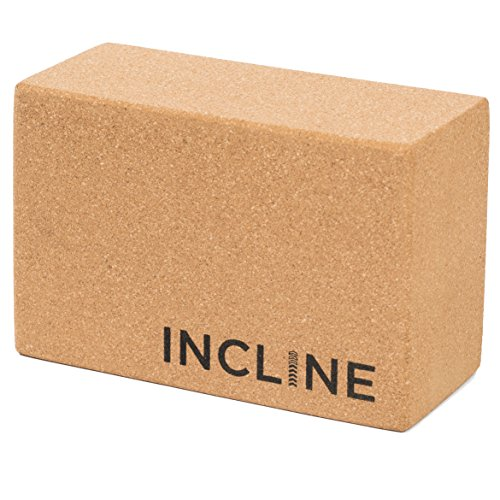 Incline Fit Natural Cork Yoga Block, 4-Inch