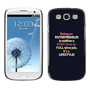 FlareStar Colour Printing Entrepreneur Purple Lifestyle Business cáscara Funda Case Caso de plástico para SAMSUNG Galaxy S3 III / i9300 / i747