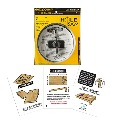 DIY Cornhole Kit - Includes Easy Guide Booklet and Hole Saw -
