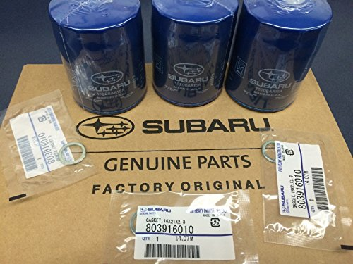 (2011-2017 OEM Subaru Engine Oil Filter & Gasket 15208AA15A Geniuine Impreza Legacy Forester 3 PACK)