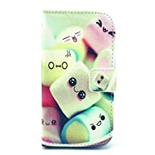 Galaxy Core LTE Case, Galaxy Avant Case, Candy House Samsung Galaxy Core LTE G386 / Galaxy Avant Case Cute Sweet Pattern Horizontal Wallet Case Magnetic Closure Flip Cover