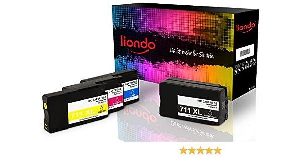 4 liondo Cartuchos de impresora compatible con HP Designjet T120 ...
