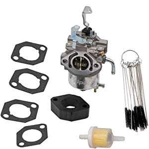 KIPA Carburetor for Briggs & Stratton 715668 715443 715121 185432 185436 185437 18Hp Engine Lawn Mower, with Gaskets & Carbon Dirt Jet Cleaner Tool Kit